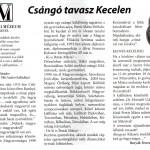 A cikk 2012 májusában jelent meg a Keceli Hírekben.